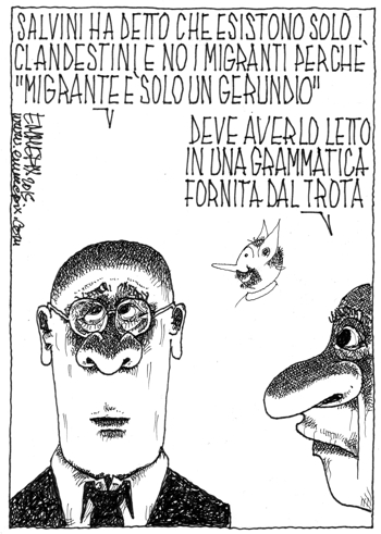 insulta rom, immigrati e pure i verbi